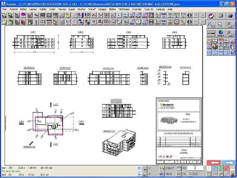 Elevation D Un Plan : Pcmo progiciel de chantier méthodes et organisation
